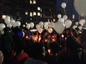 Hundreds of club members and staffers at the Variety Boys & Girls Club released balloons in memory of Michael Messina Monday night in Astoria.