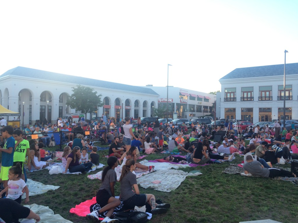The packed crowd at last night's screening of UP, at Atlas Park.