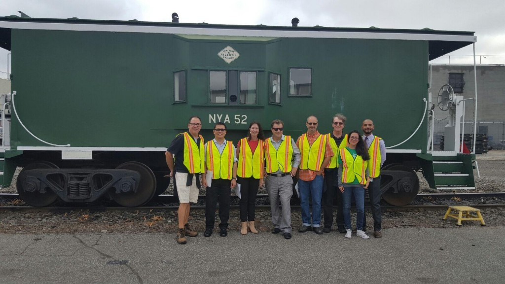Councilwoman Crowley and community leaders tour the tracks with the DOT last year.