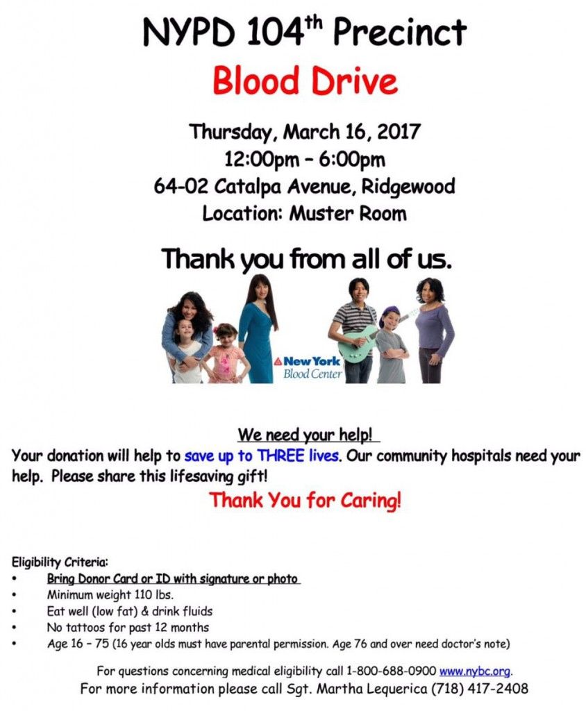 104th Precinct Blood Drive
