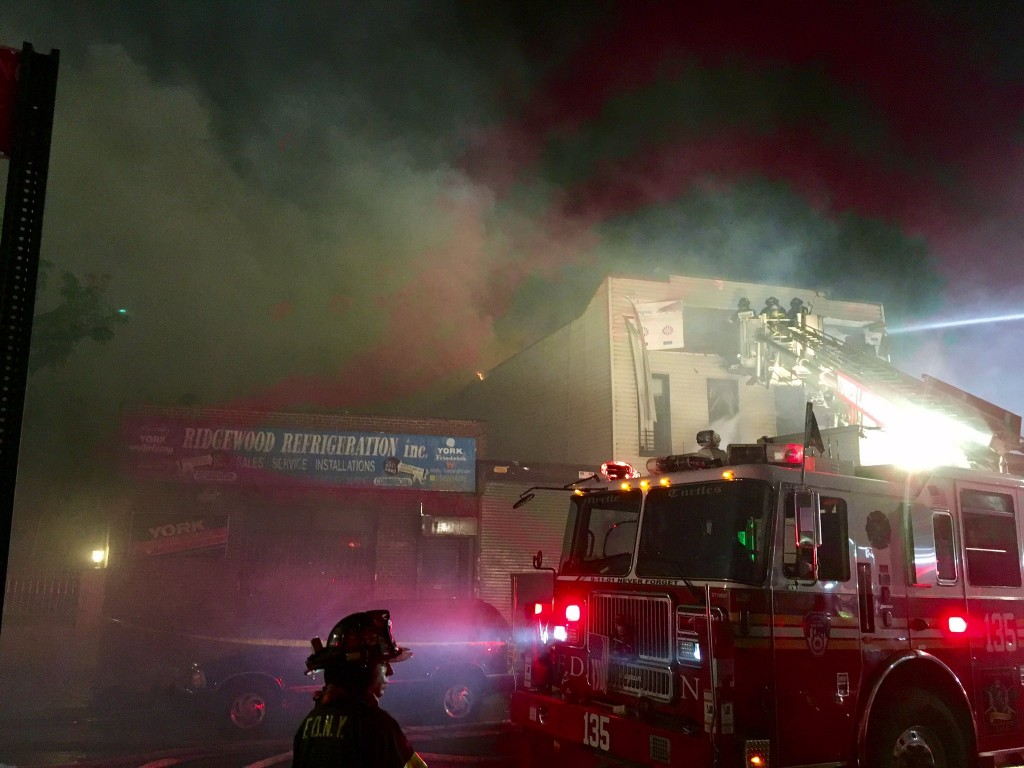 Photo of the blaze courtesy FDNY