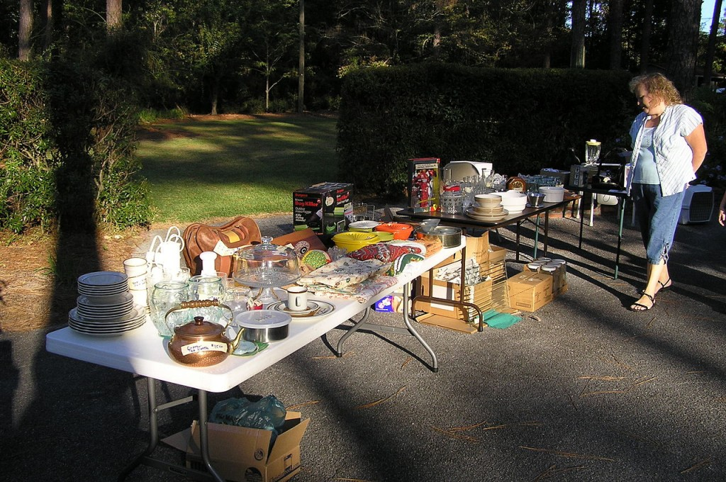 (Yard sale photo courtesy Wikimedia Commons)