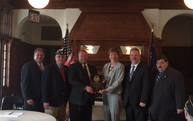 Elected officials thank George Werst Funeral Home for all their services for Indigent Veterans.