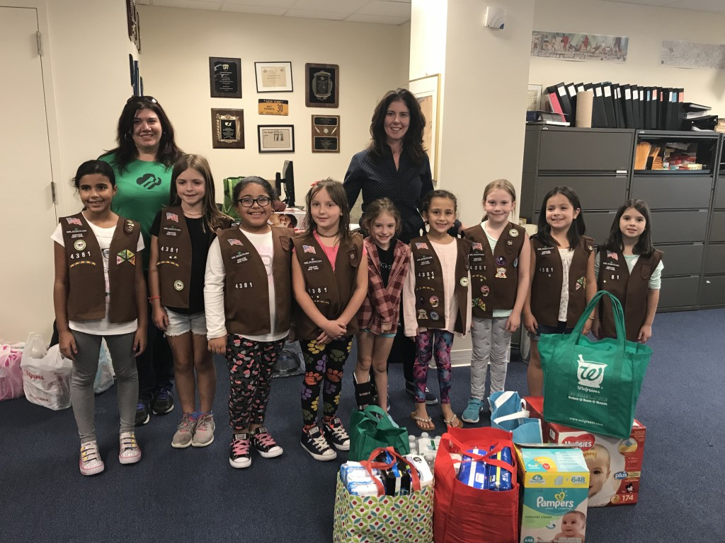Hurricane Donations from Girl Scouts