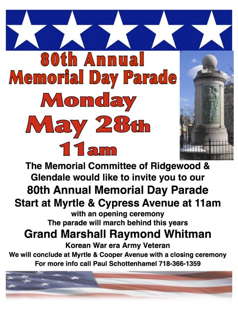 memorial parade 2018