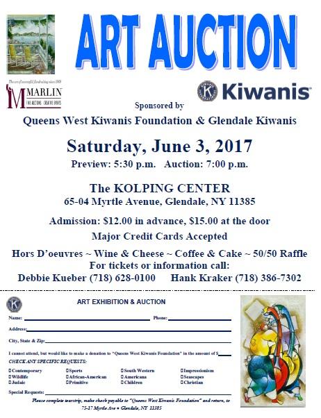 art auction flyer